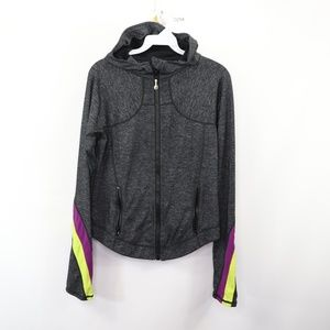 Lululemon Womens 10 Half Moon Running Jacket Gray